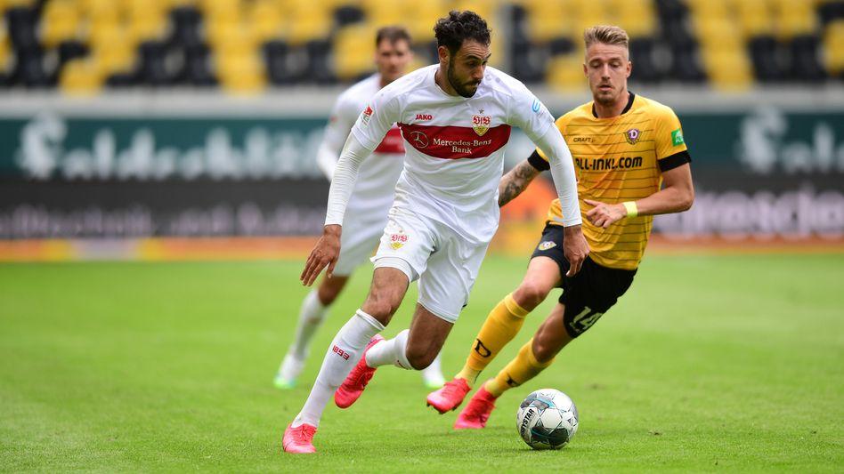 Der VfB Stuttgart setzte sich mit Mühe in Dresden durch und bleibt Tabellenzweiter