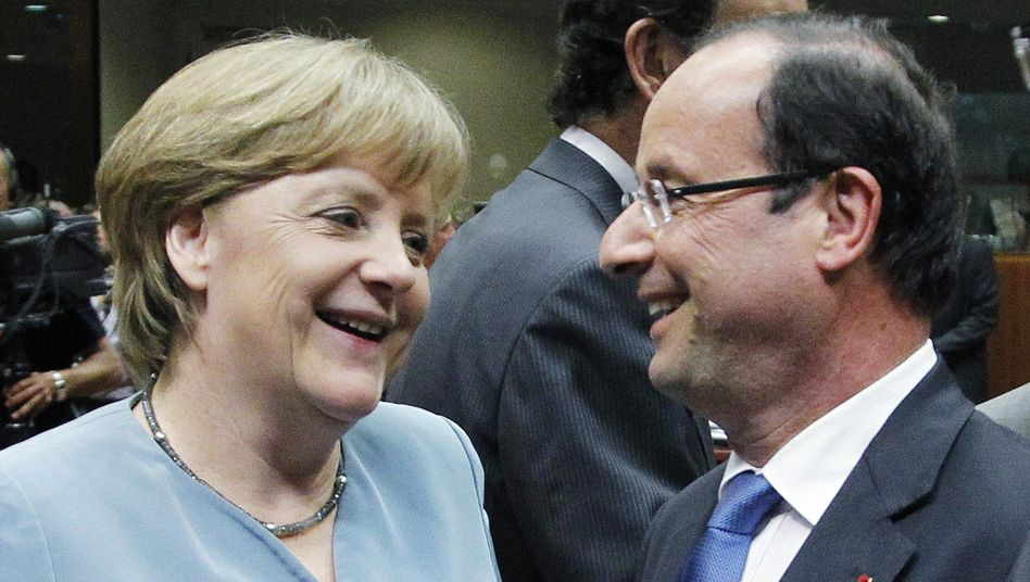 Merkel und Hollande beim EU-Gipfel in Brüssel: Kein Kompromiss bei Euro-Bonds