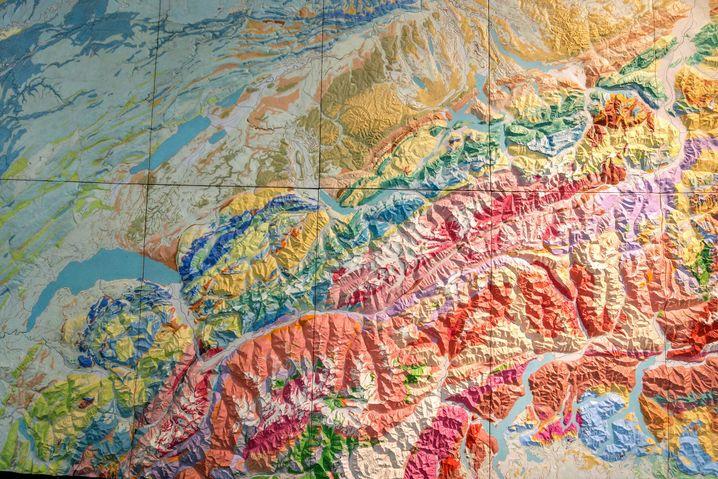 Geologisches Modell der Alpen im Museum Focus Terra an der ETH Zürich