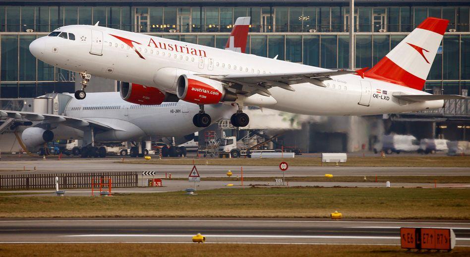 Eine Maschine der Austrian Airlines in Zürich: Die Staatsbeihilfen in der Coronakrise waren rechtens
