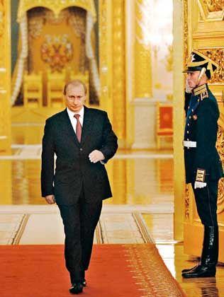 The Kremlin's strongman: Vladimir Putin wants more influence in Europe.