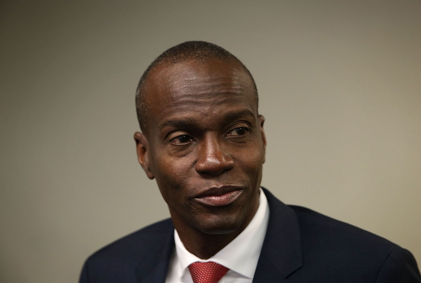 Haiti Presidential Candidate Jovenel Moise Holds News Conference In Washington