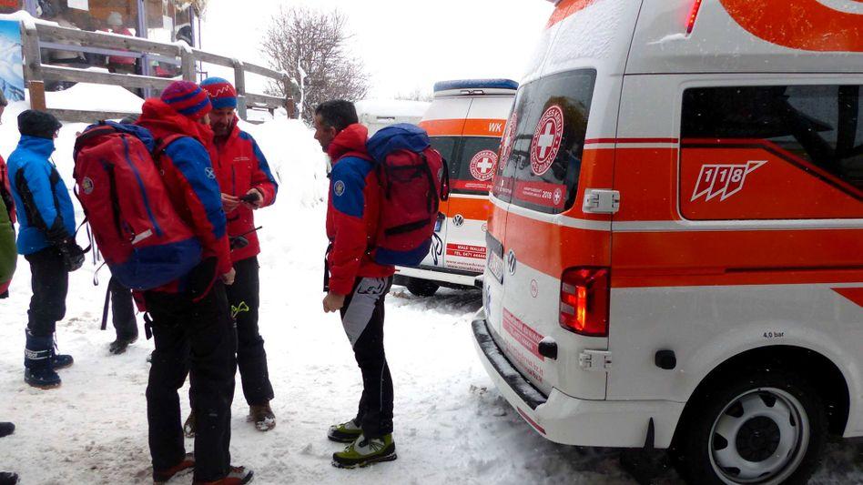 Rettungskräfte in Südtirol