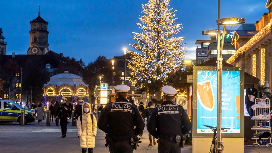 Fußgängerzone in Stuttgart: Zwar gut besucht – aber deutlich schwächer als sonst in der Weihnachtszeit
