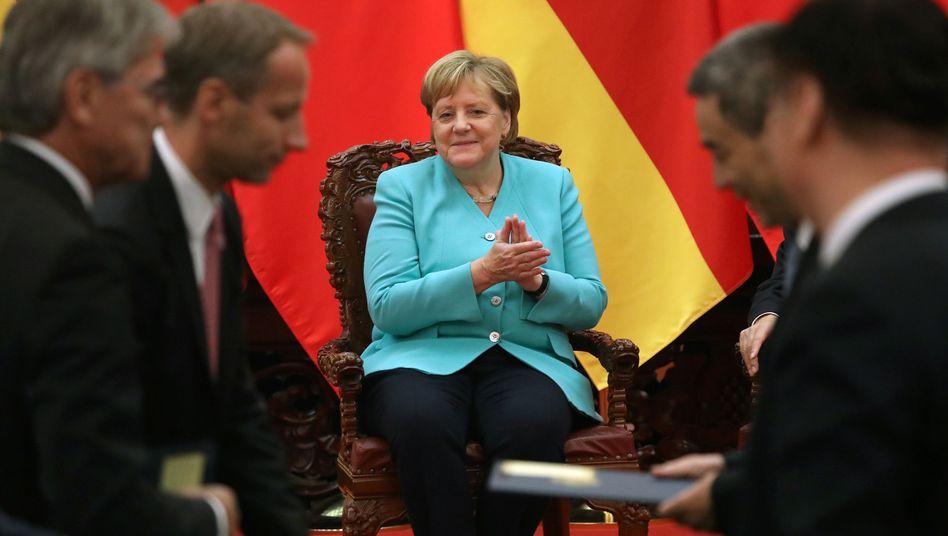 Kanzlerin Angela Merkel zu Besuch in Peking: Sie vermeidet Lektionen über Menschenrechte