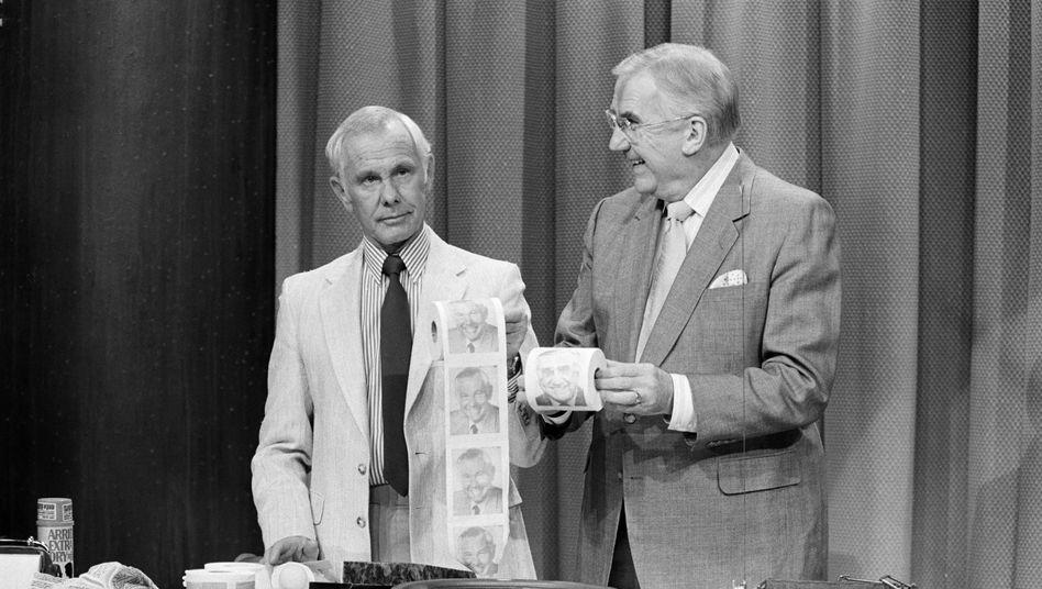 Talkshow-Star Johnny Carson (links): Aus Versehen eine Klopapierkrise ausgelöst