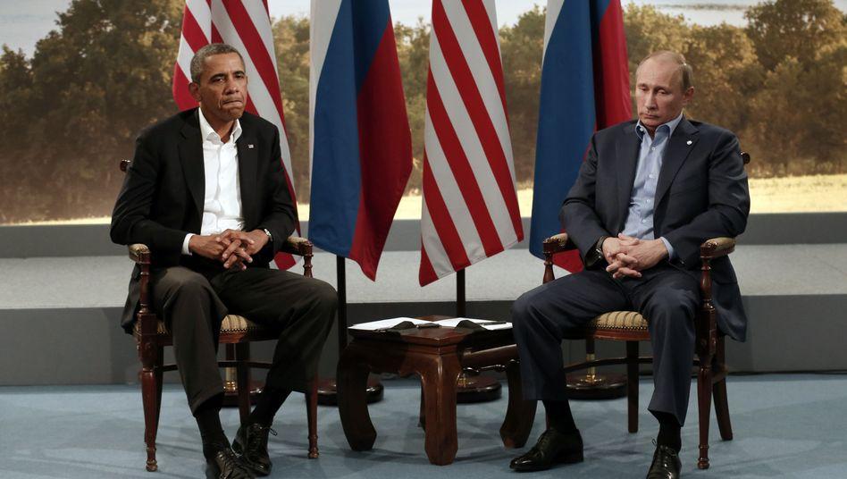 Präsidenten Obama, Putin (im Juni in Nordirland): Harsche Worte