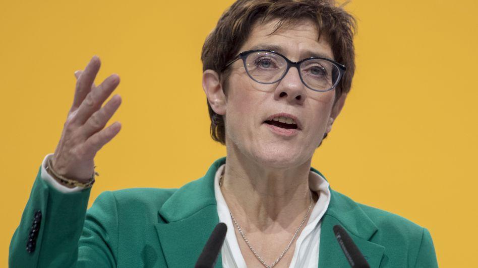 CDU-Chefin Annegret Kramp-Karenbauer