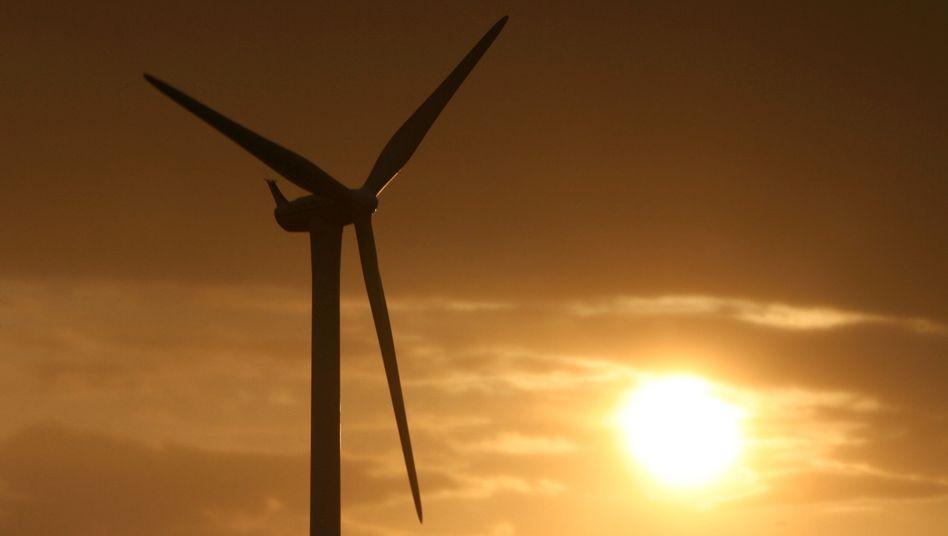 Windkraftanlage in der Nähe von Kiel