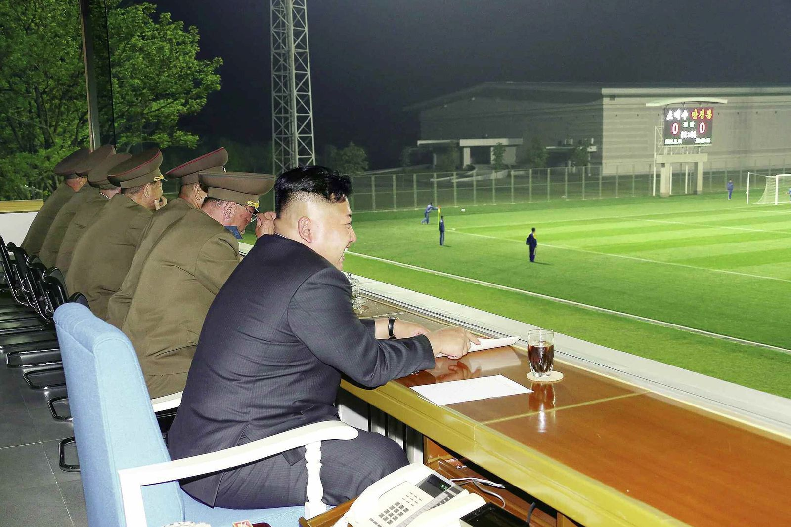 Kim Jong-un at football match