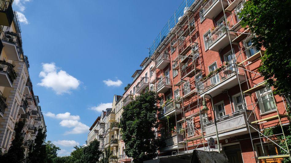 Wohnhäuser im Berliner Viertel Prenzlauer Berg