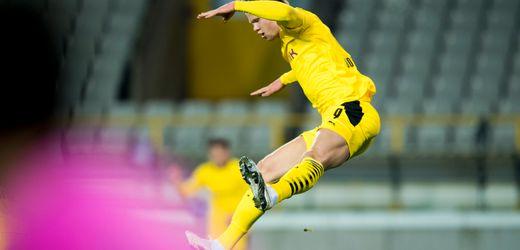 Champions League: Erling Haalands Doppelpack bringt Borussia Dortmund gegen FC Brügge auf Achtelfinalkurs