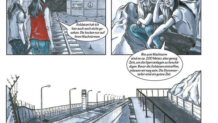 """Anschläge auf die Berliner Mauer: Comic-Auszüge: """"Gleich wird es heiß und ungemütlich!"""""""
