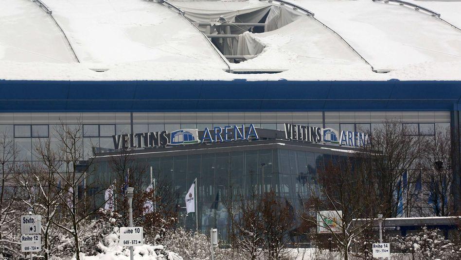Schneeschaden an Schalker Arenadach: Biathlon-Veranstaltung fällt aus