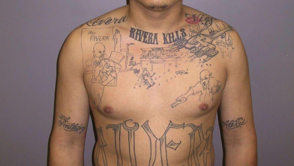 Kalifornisches Gangmitglied: Mordszene auf der Brust