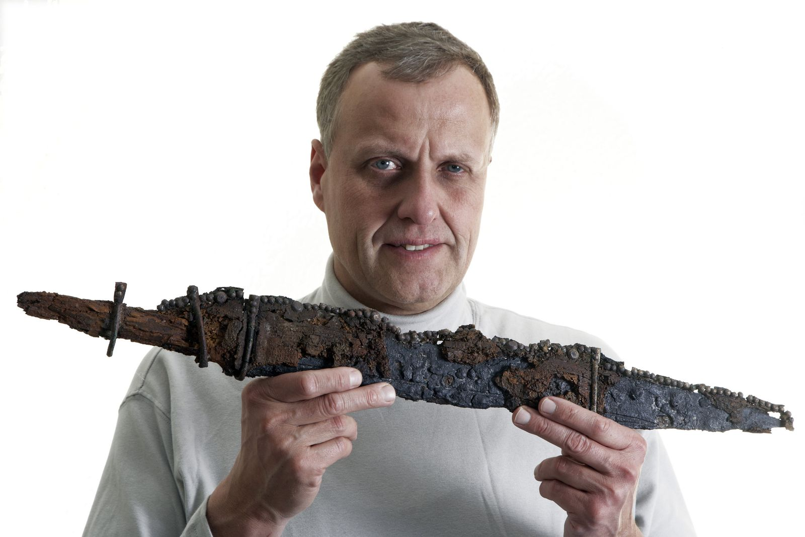 Perfekt erhaltenes Merowingerschwert