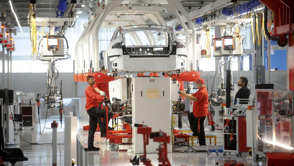 Tesla-Fabrik in Fremont