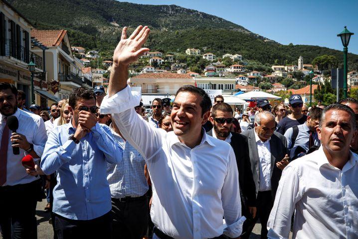 Tsipras vor Bürgern im August 2018