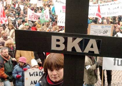 Demonstration für das BKA: Polemik und Opportunismus von der Leitungsebene