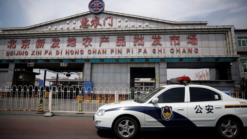 Der Xinfadi-Markt in Peking: Hier soll der Ursprung des neuen Corona-Ausbruchs liegen