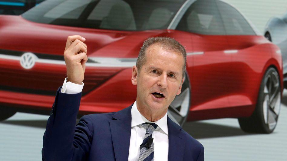 VW-Chef Diess (Archivbild): »Tech oder Tod«