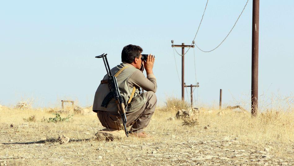 Kurdischer Peschmerga-Kämpfer nahe Zumar: Militärische Erfolge dank US-Luftunterstützung