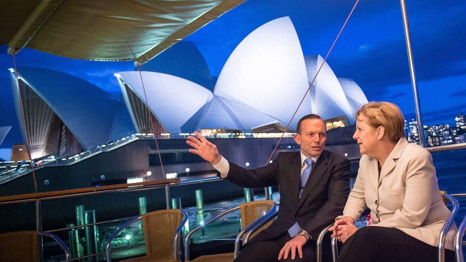 """Merkel mit australischem Premier Abbott: """"Die Welt wartet nicht auf uns"""""""