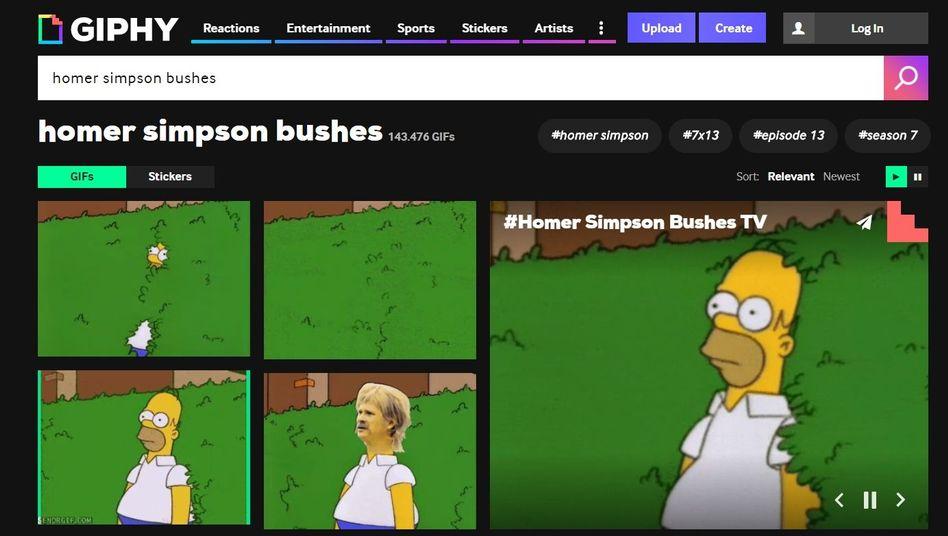 Beliebt als GIF und Vorlage: Homer Simpson