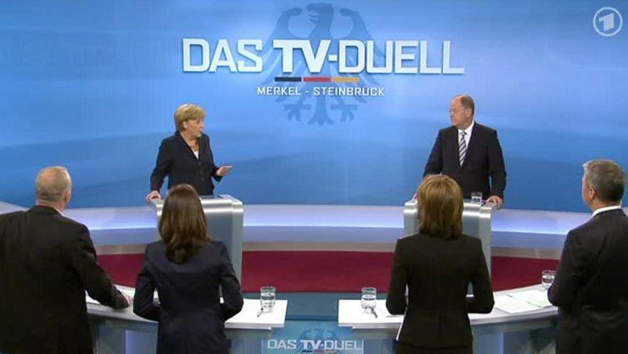 TV-Duell zwischen Merkel und Steinbrück: Streit ums Geld
