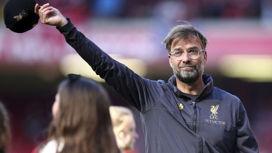Jürgen Klopp dankte den Fans für eine eigentlich herausragende Saison