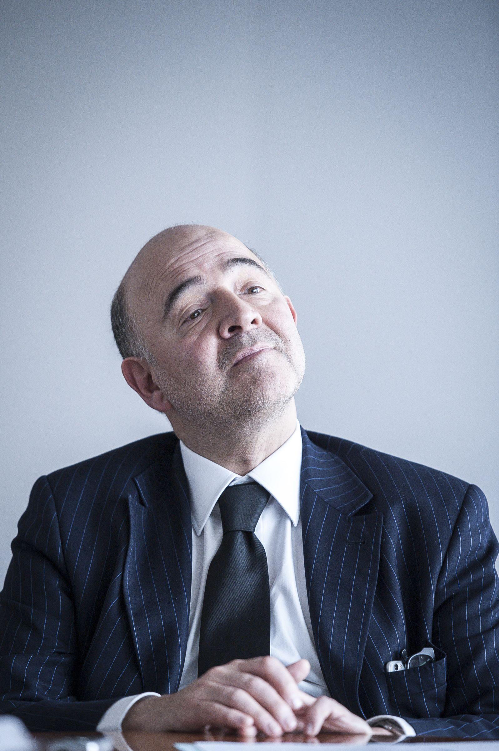 EINMALIGE VERWENDUNG Pierre Moscovici Interview Porträt