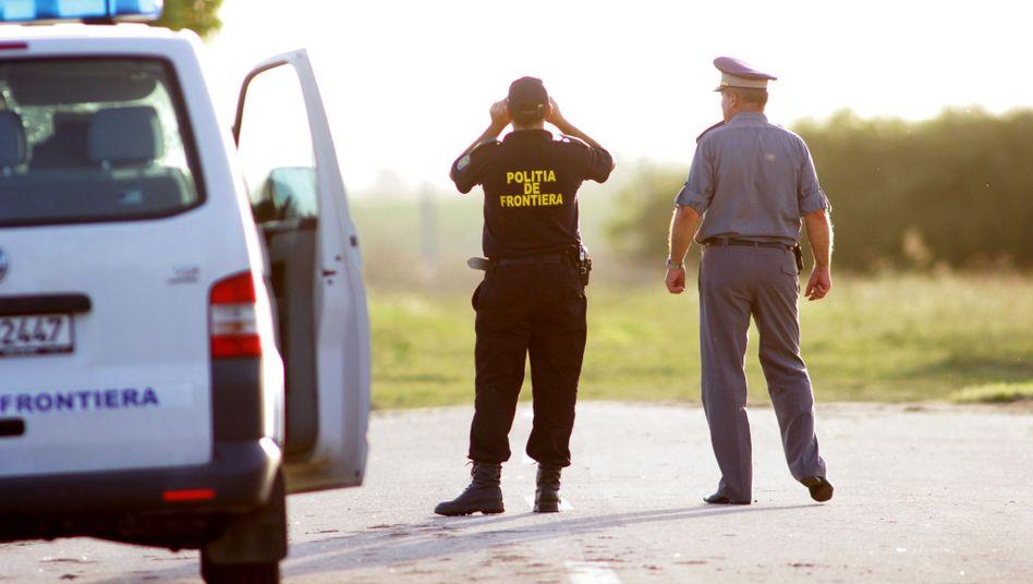 Grenzschützer an der rumänisch-serbischen Grenze