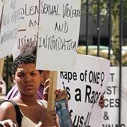 Protest gegen sexuelle Gewalt in Johannesburg: Im Schnitt 131 angezeigte Fälle pro Tag