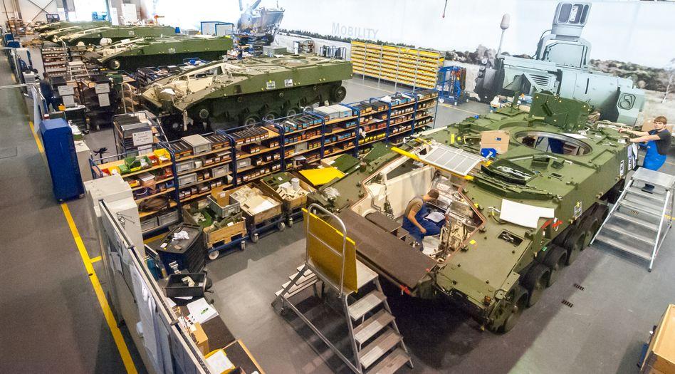 Produktion von Schützenpanzern