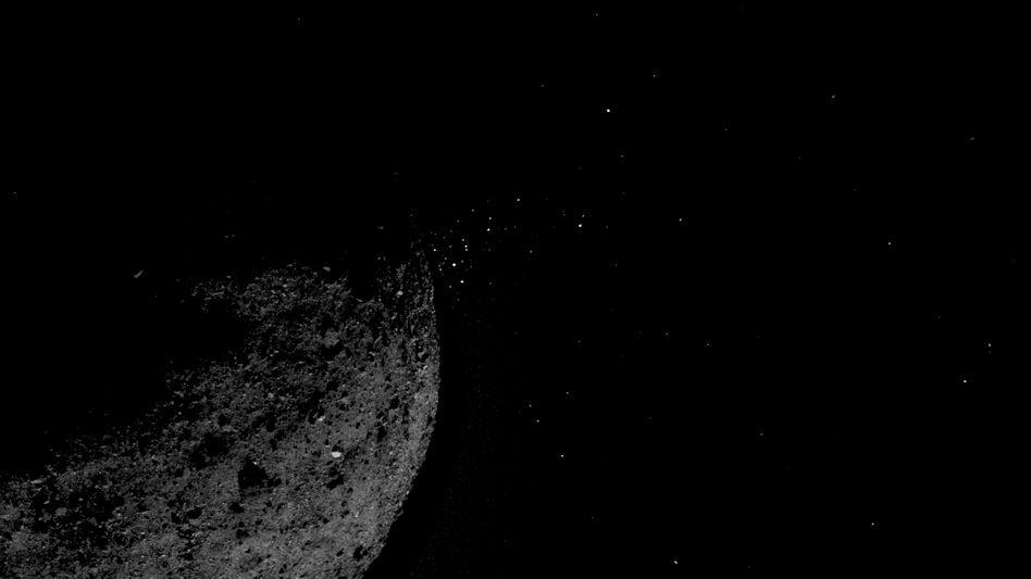 Geröllstrom am Asteroiden Bennu