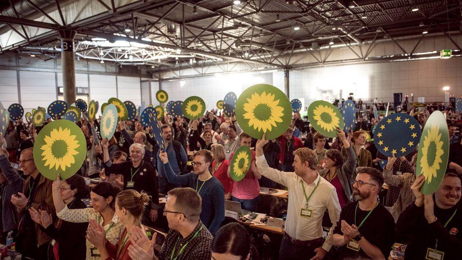 Delegierte beim Grünen-Parteitag Ende 2018