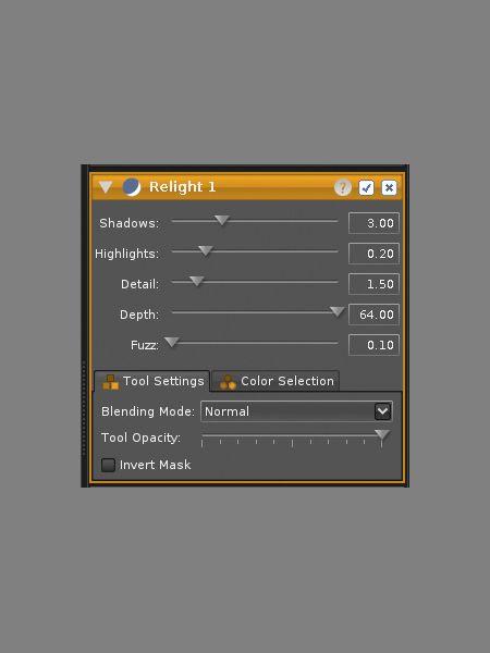Das Werkzeug Relight sorgt für eine verbesserte Kontrasteinstellung. Es eignet sich beispielsweise hervorragend für die schnelle Optimierung von unterbelichteten Fotos.