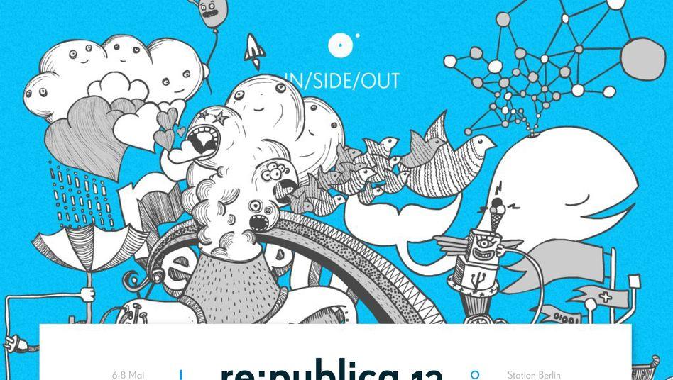 """Logo der diesjährigen re:publica: """"Ihr wollt Netzpolitik?"""""""