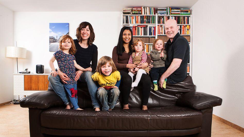 Familie Vogt aus Düsseldorf: Vier Kinder und ein Au-pair-Mädchen