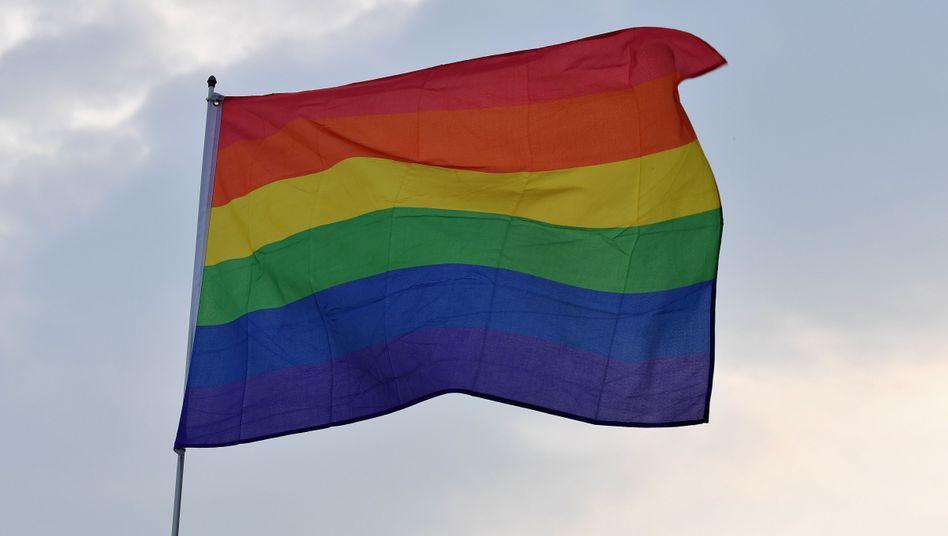 Regenbogenflagge (Symbolbild): Mit Feuerzeugbenzin übergossen und angezündet