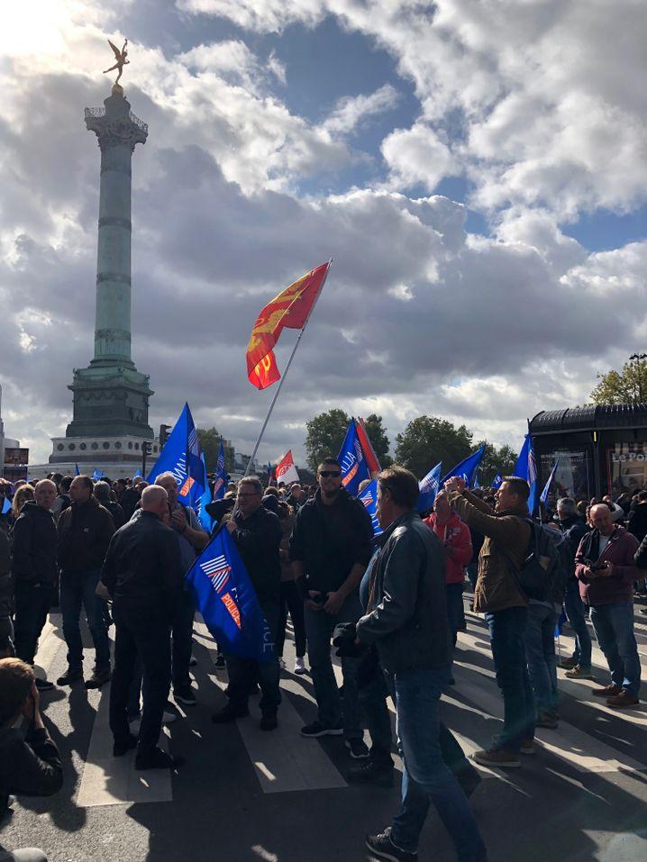 """Tausende Polizisten reisten für die Demonstration in die Hauptstadt: """"Physisch gesehen sind wir total erschöpft. Was die Moral angeht, ist es noch schlimmer."""""""