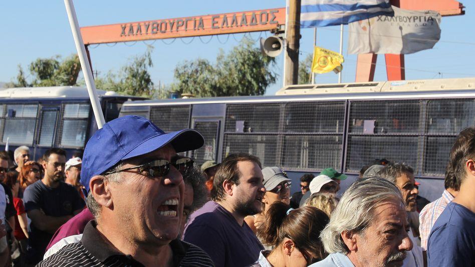 Proteste griechischer Arbeiter (20. Juli): Euro-Austritt hat seinen Schrecken verloren