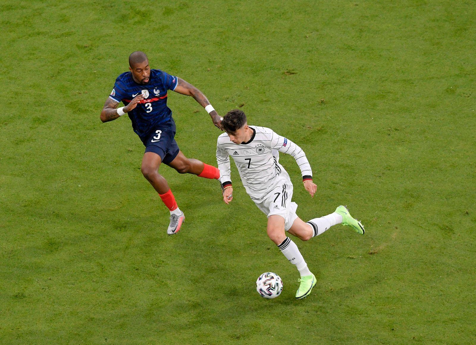15.06.2021, Fussball, Europameisterschaft 2020, Gruppenspiel Gruppe F, Frankreich - Deutschland, in der Fußball Arena Mü