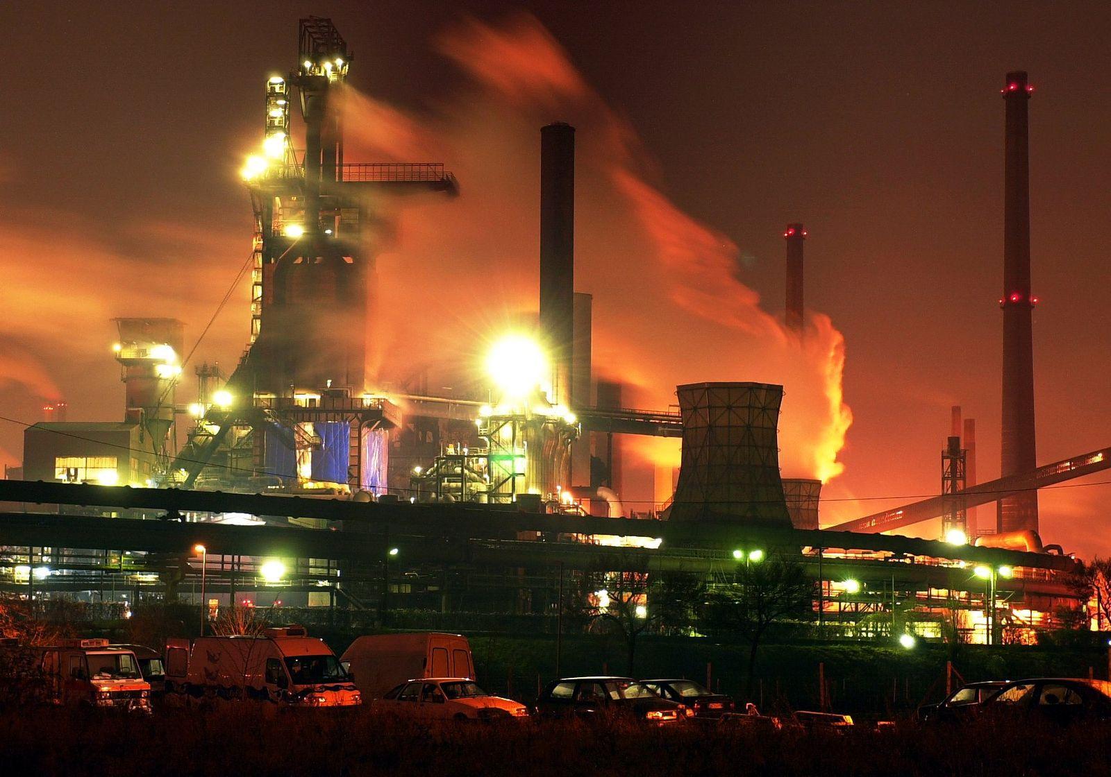 Thyssen-Krupp-Stahlwerk in Duisburg