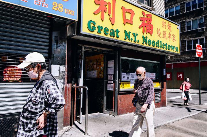 Chinatown in New York: Mehr als 1700 Übergriffe auf asiatischstämmige Amerikaner