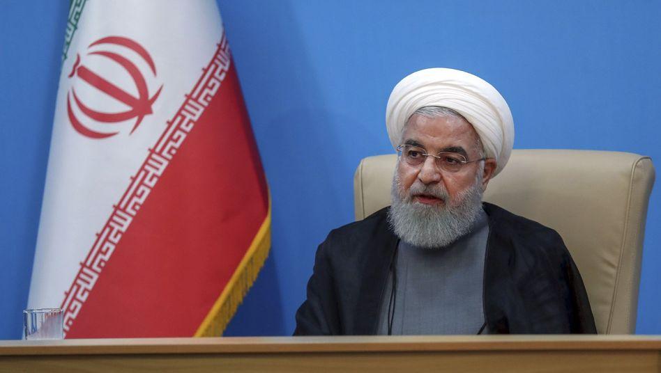 Hassan Rohani, Irans Präsident, auf einem Foto, das auf der offiziellen Website des Büros der iranischen Präsidentschaft veröffentlicht wurde