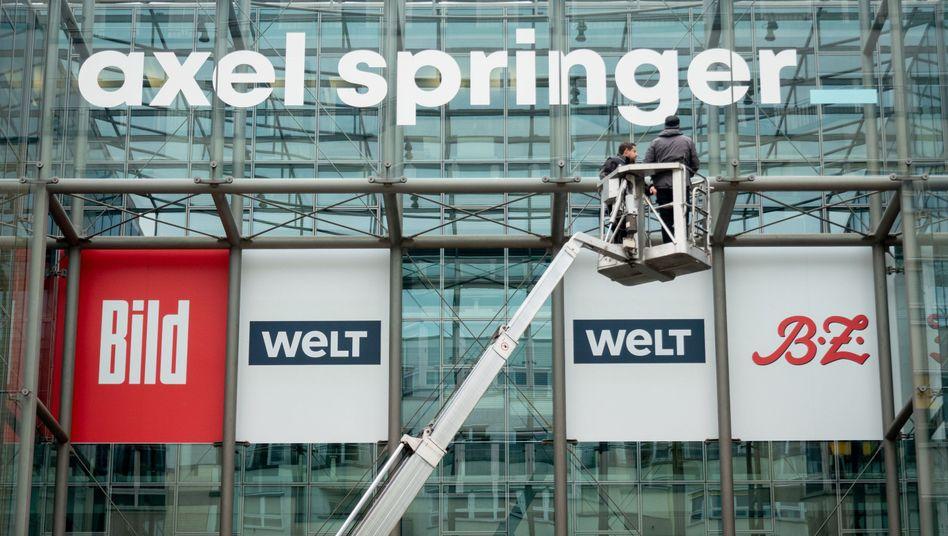 """Zu Axel Springer gehören neben den """"Bild""""-Marken, auch """"Die Welt"""" und die """"BZ"""""""