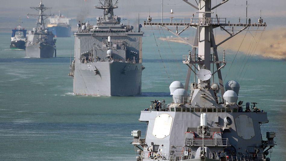 """US-Zerstörer """"Ramage"""" (Archivfoto): Vier raketenbestückte Kriegsschiffe in der Region"""