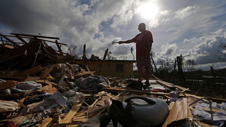 Nach einem Hurrikan in Puerto Rico