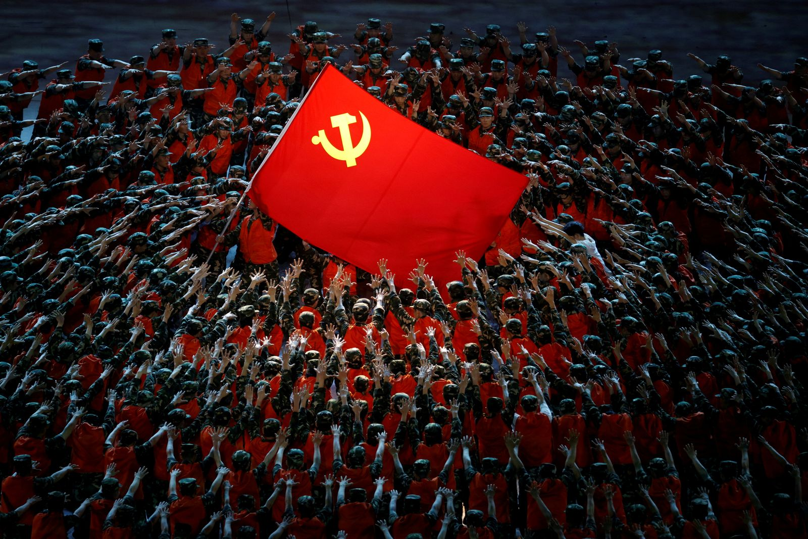 Show commemorating the 100th anniversary of the founding of the Communist Party of China, in Beijing